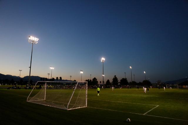 The Coronado Cougars soccer team plays against the Durango Trailblazers at the Bettye Wilson ...