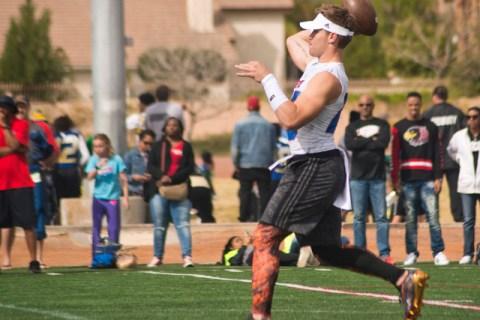 702 Elite quarterback Tate Martell throws a pass during their game against Texas Elite durin ...