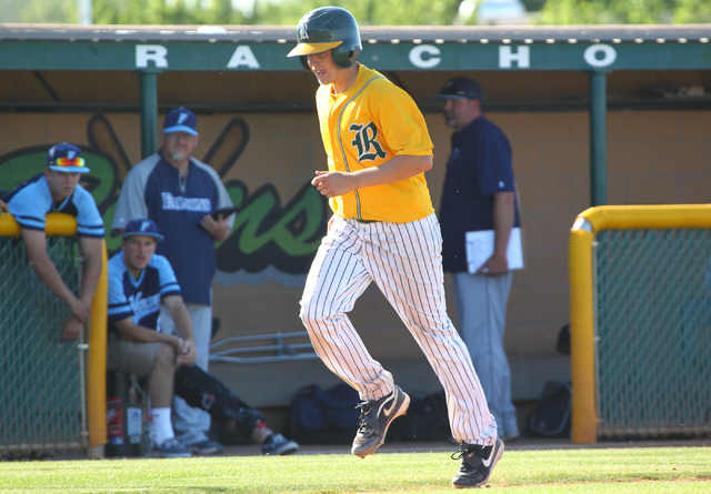 Rancho's Josh Mill trots home following his two-run homer in the fourth inning Friday. ...