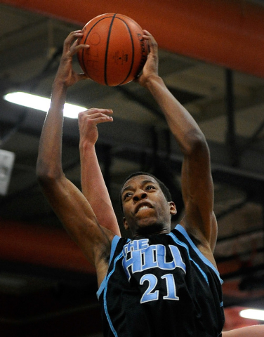 Foothill's Torrance Littles grabs a rebound during the second half against Palo Verde ...