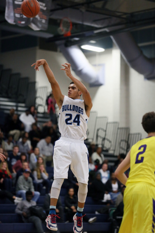 Centennial's Darrian Traylor shoots a jumper on Friday against Durango. Traylor scored 24 ...