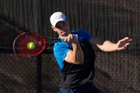 Coronado's Martin Rizov plays a tennis game against Silverado's Seth Forstner du ...