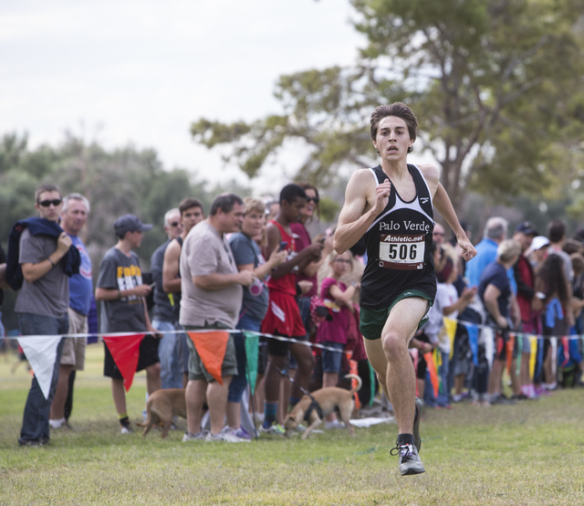 Daniel Ziems, from Palo Verde High School, finishes first during the Regional 4A Sunset Boys ...