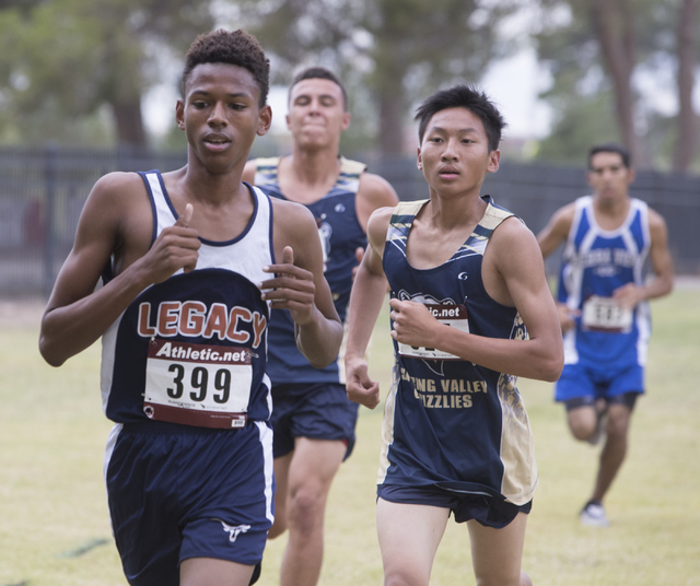 Tylor Vinson, left and William Zheng participate in the Sunset Boys 2016 NIAA Southern Regio ...