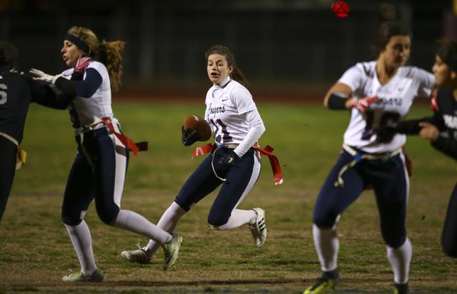Coronado's Trinity Rhoades (11) runs the ball during the Class 4A state championship f ...