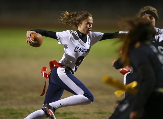Coronado's Caitlin Shannon (9) runs the ball during the Class 4A state championship fl ...