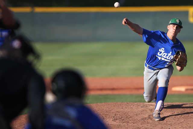 Green Valley's Spencer Cofer (26) pitches the ball in the fourth inning of their baseb ...