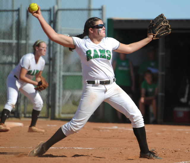 Rancho pitcher Brandy Marlett was at her best in the circle for three of the Rams' four bi ...