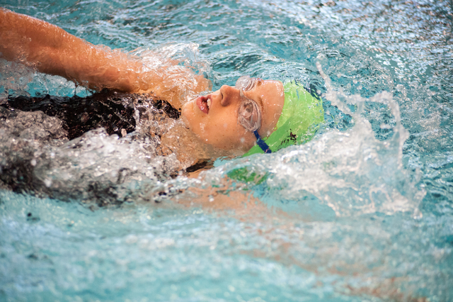 Palo Verde's Kasdyn Rafie swims the 200-yard individual medley on Saturday at the Suns ...