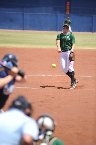 Palo Verde's Rachel Williams delivers a pitch against Centennial Saturday in the Sunse ...