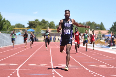 Silverado senior Zakee Washington, shown after winning the boys 400-meter dash at the Divisi ...