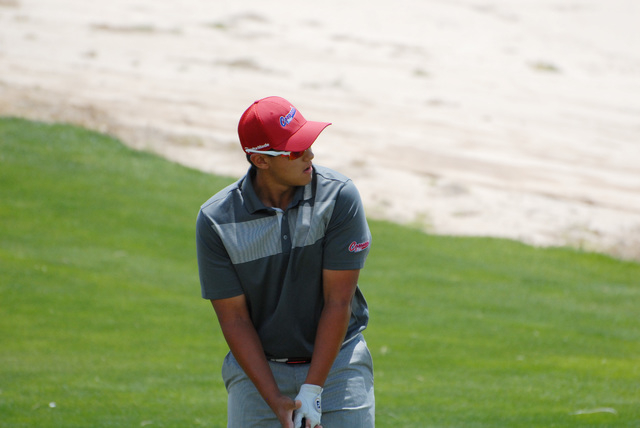 Coronado's Bradley Keyer lines up a shot during the Division I state golf tournament o ...