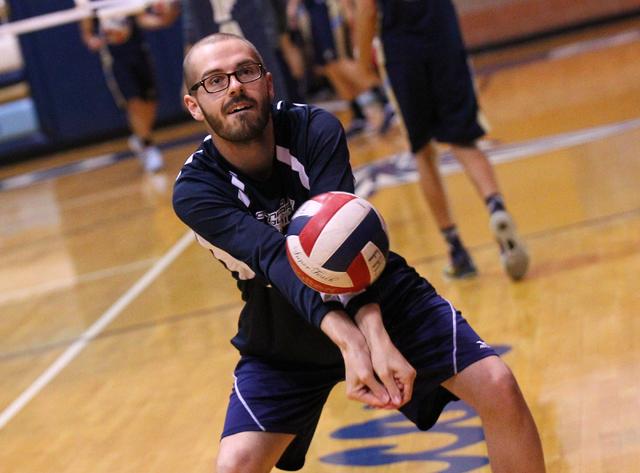 Coronado senior Michael Tatalovich, a cancer survivor, warms up before the team takes on Foo ...