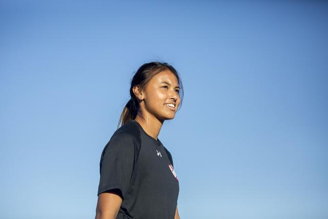 Western Warrior girls soccer midfielder Ellyson Reynada, senior, is seen during practice at ...