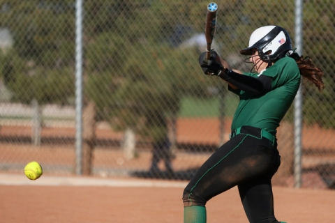 Palo Verde senior Rachel Williams hits the ball during a game against Green Valley on Tuesda ...