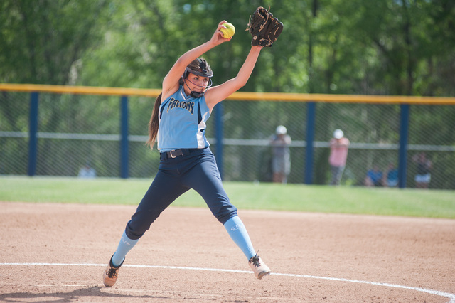 Foothill's Sarah Penksa pitches against Palo Verde in the Division I state softball to ...