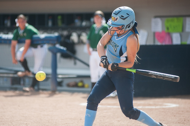 Foothill's Hannah Stevens bats while playing against Palo Verde in the Division I stat ...