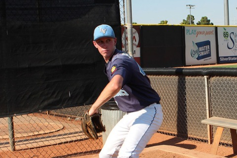 Centennial pitcher Jacob Rogers, who won Wednesday night after throwing three hitless inning ...