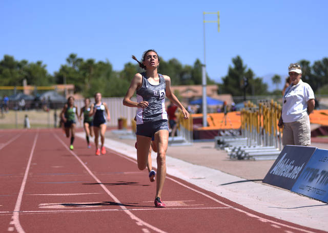 Skyler Free ran in both the 1,600-meter and 3,200-meter runs in the 2016 Division I state me ...