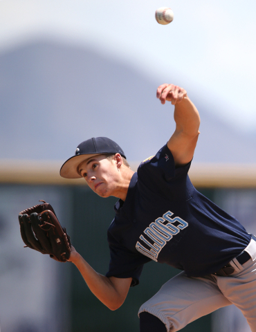 Centennial's Zachary Dixon pitches against Liberty in the Division I state championshi ...