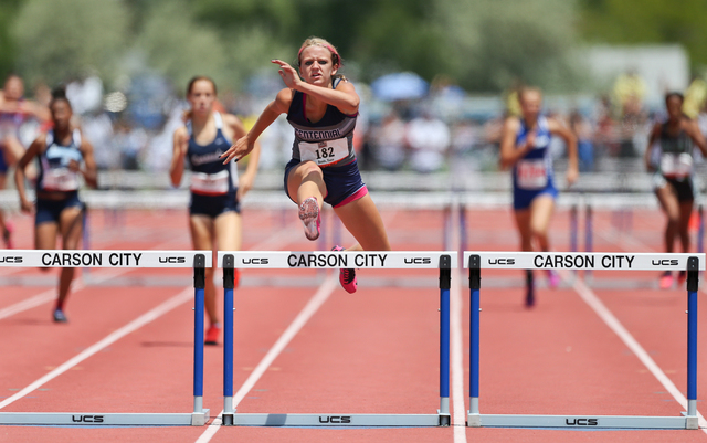Centennial's Tiana Bonds set state meet records in the 100- and 300-meter hurdles this ...