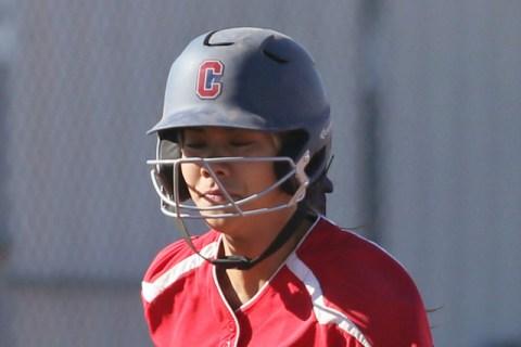 Coronado's Basia Query runs home during a softball game against Rancho at Coronado Hig ...