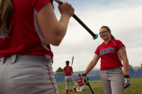 Valley High sophomore pitcher Kristina Manthei has begun a fundraiser to aid catcher Olivia ...