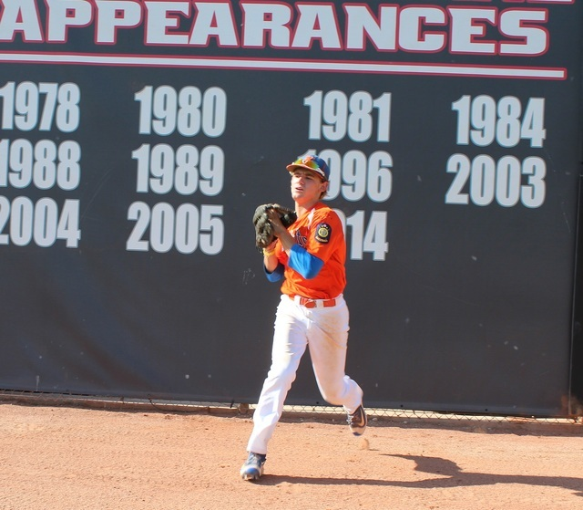 Las Vegas Knights center fielder Braxton Wehrle went 2-for-5 with a run scored, and had two ...