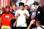 Keith Thurman, Manny Pacquiao arrive in Las Vegas for title fight