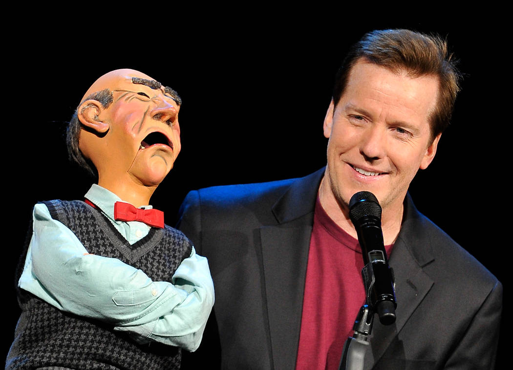 Ventriloquist Jeff Dunham performs with his puppet Walter at Planet Hollywood Resort, Nov. 30, ...