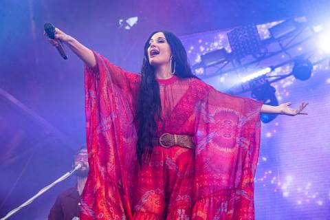 Kacey Musgraves performs at the Bonnaroo Music and Arts Festival on Saturday, June 15, 2019, in ...