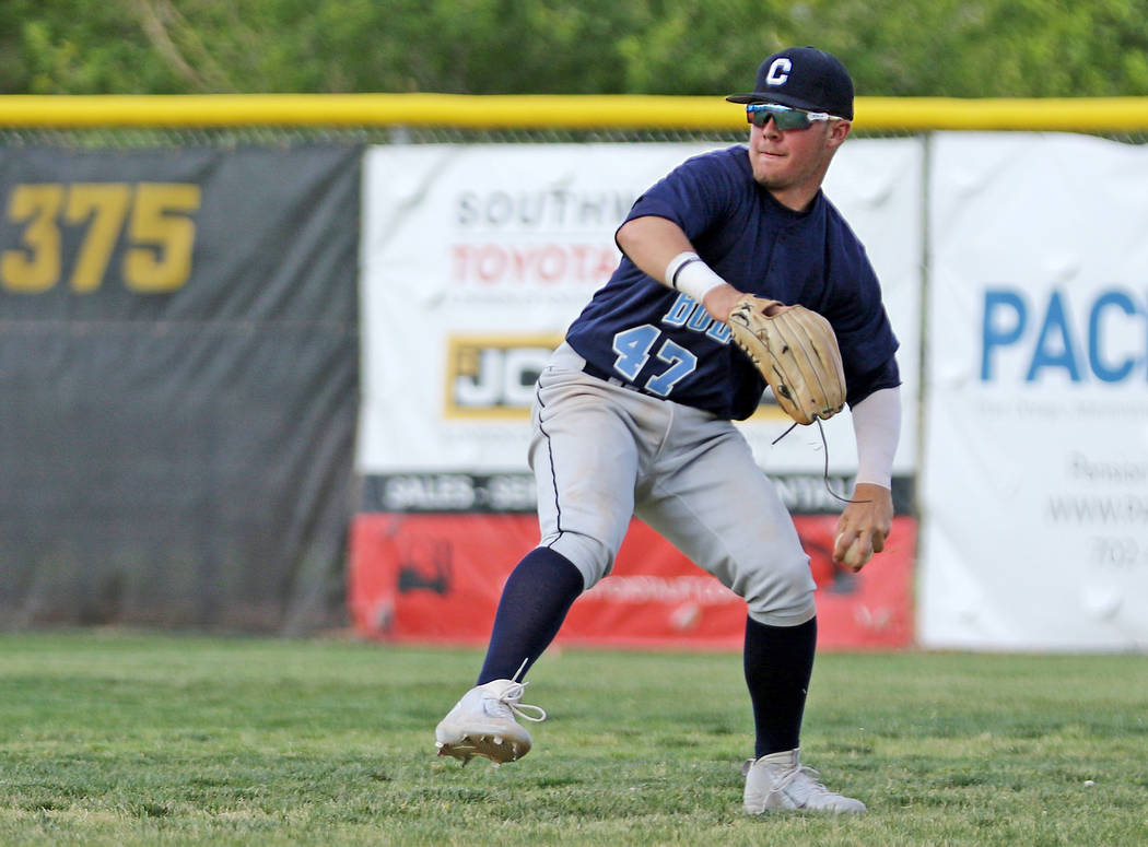 Centennial High School right fielder Austin Kryszczuk, who played on the Mountain Ridge team du ...