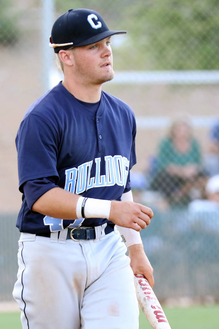 Centennial High School outfielder Austin Kryszczuk, who played on the Mountain Ridge team durin ...