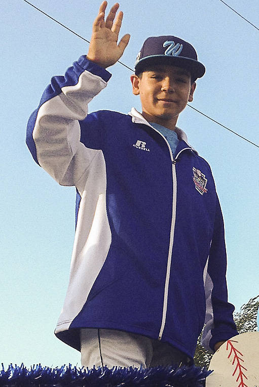Dillon Jones of the Mountain Ridge All-Star team takes part in the Little League World Series O ...