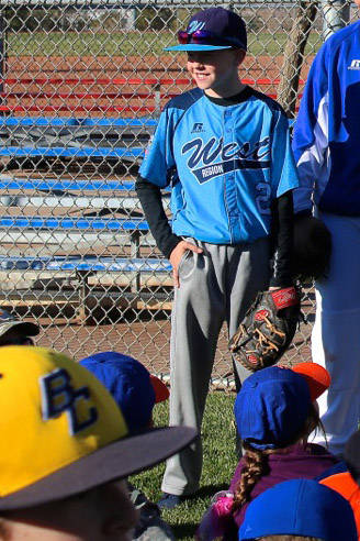 Laura Hubel/Boulder City Review Mountain Ridge Little League player Payton Brooks at the fourth ...