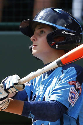 Las Vegas' Zach Hare watches his two-run homerun off Chicago pitcher Cameron Bufford during the ...