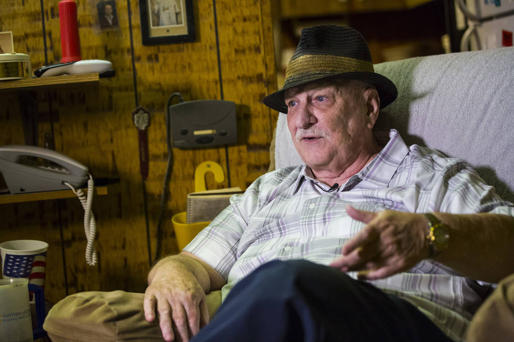 Jerry Kaczmarek talks about his days as a bingo pinball player at his home in Bullhead City, Ar ...