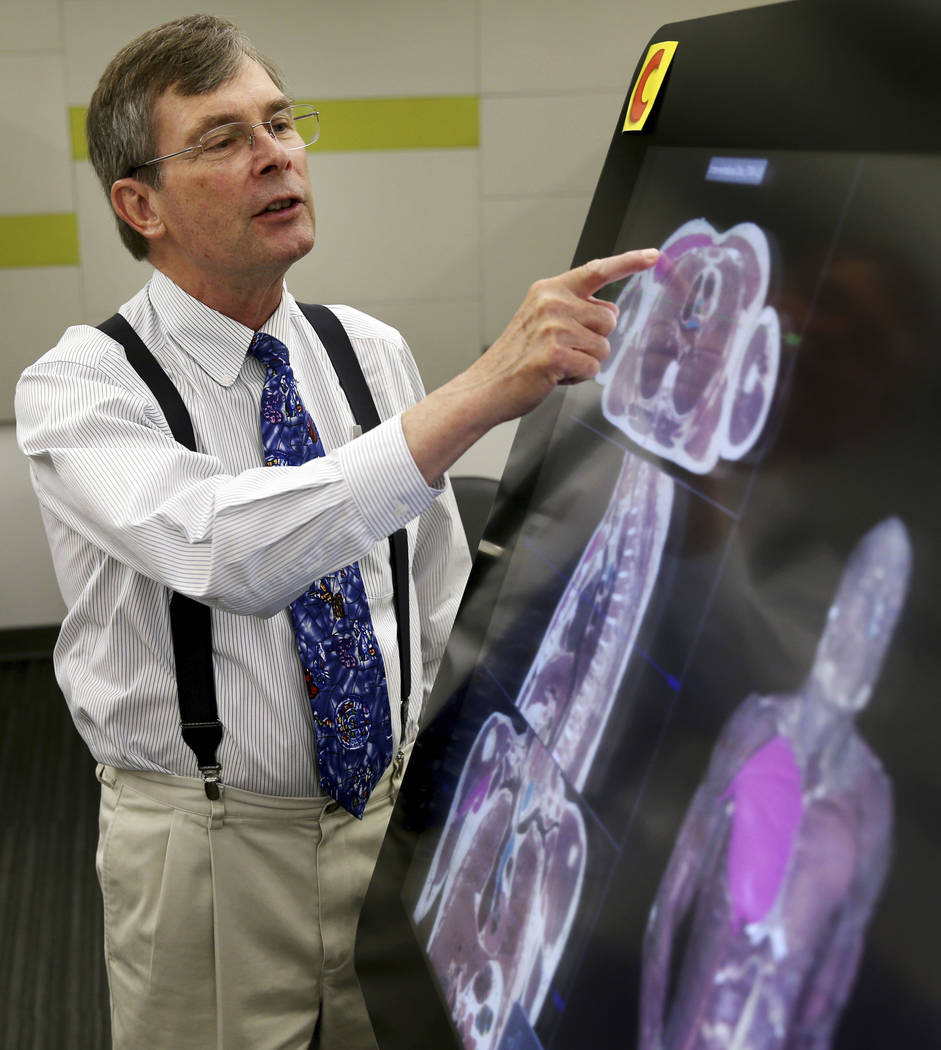 Dr. Jeffrey Fahl, professor of pediatrics and chair of the anatomy program for the UNLV School ...