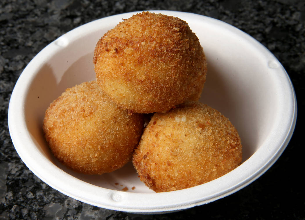 Croquetas at Valencian Gold in Las Vegas Thursday, July 25, 2019. The concept of the restaurant ...