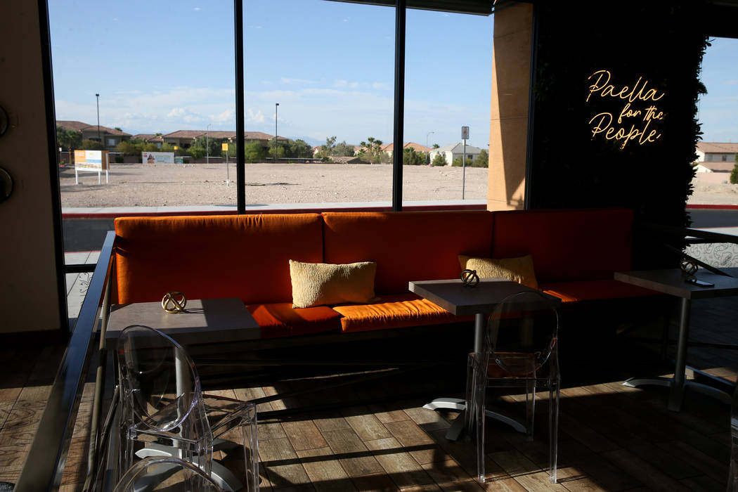 Valencian Gold in Las Vegas Thursday, July 25, 2019. The concept of the restaurant is quick cas ...
