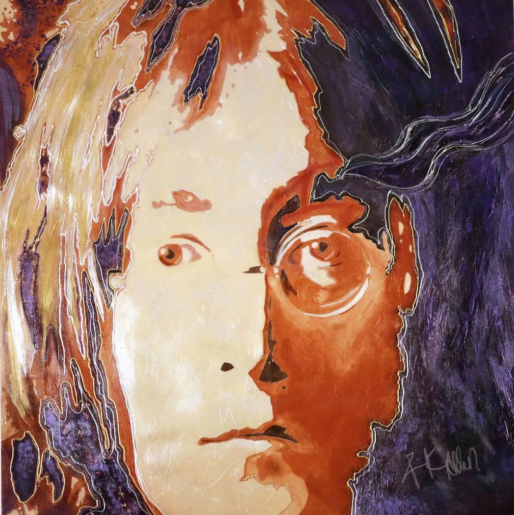 "Rick Allen's ""Legends & Dreams 2019"" art collection consists of lifeli ..."