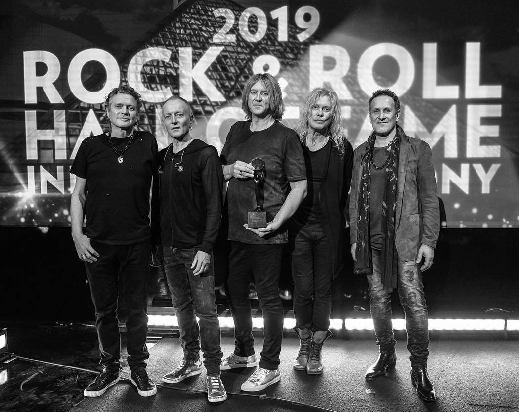 Def Leppard was inducted into the Rock and Roll Hall of Fame in March.