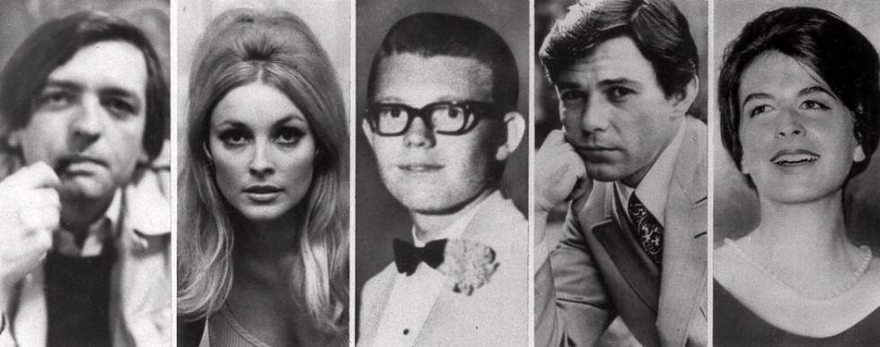 Combo image shows the five victims slain the night of Aug. 9, 1969 at the Benedict Canyon Estat ...