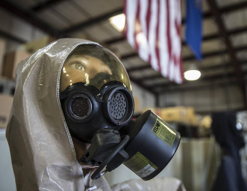 A hazardous materials suit at the Metropolitan Police Department's All-Hazard Regional Multi-ag ...