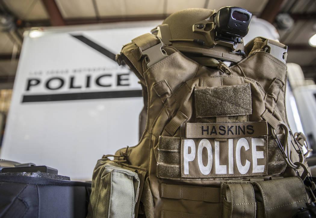 A standard tactical vest at the Metropolitan Police Department's All-Hazard Regional Multi-agen ...