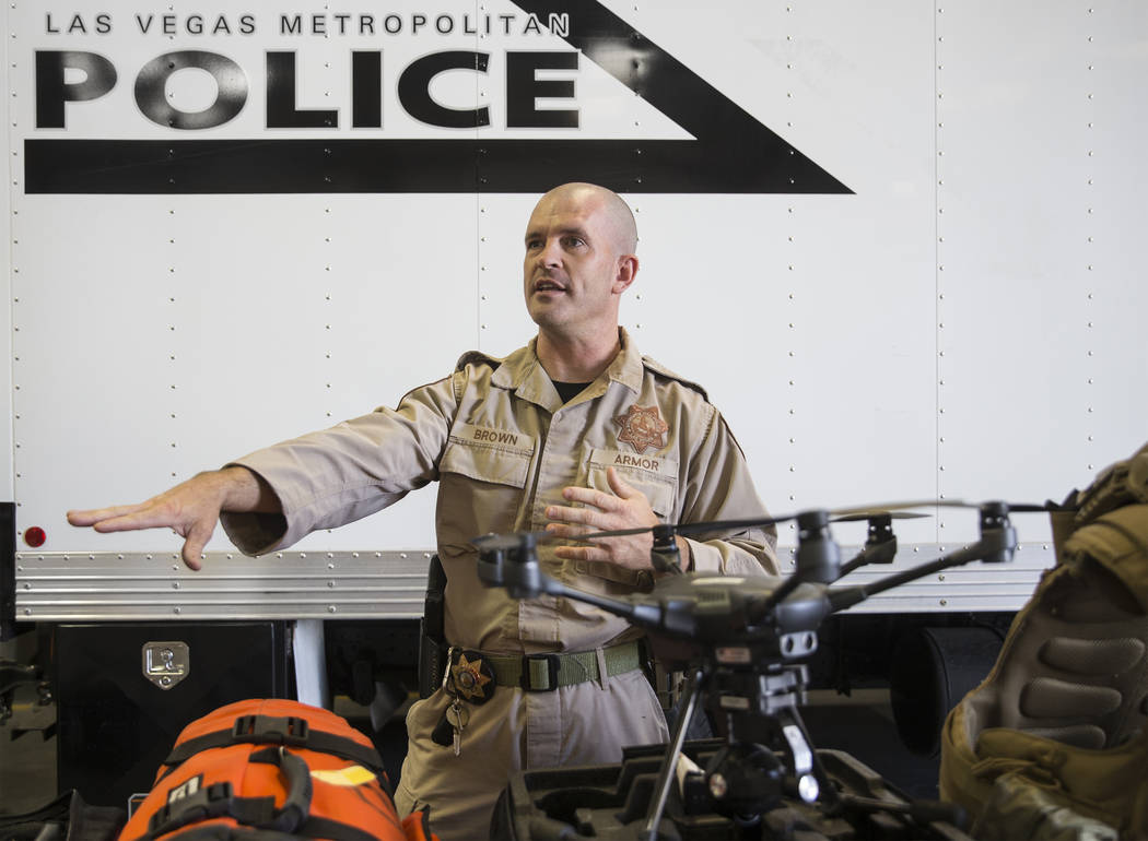 Metropolitan Police Department officer Gabriel Brown discusses the resources used at the Metrop ...