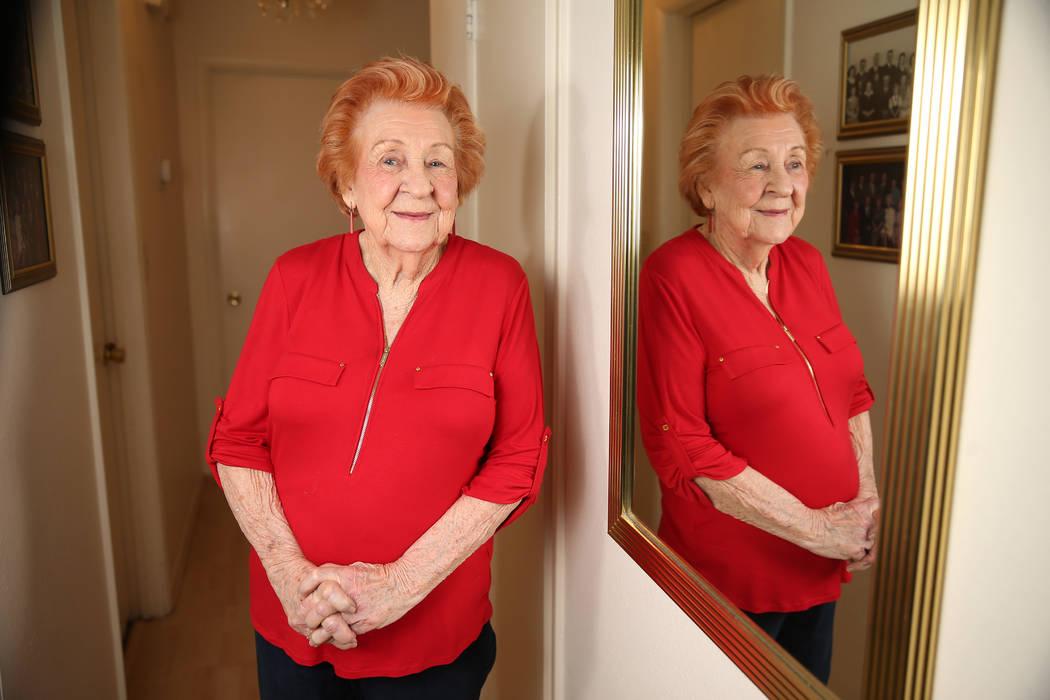 Etta Baykara, 91, at her home in Las Vegas, Tuesday, July 30, 2019. Baykara, who plays accordio ...