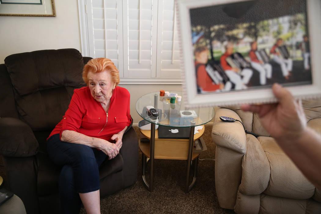 Etta Baykara, 91, is interviewed at her home in Las Vegas, Tuesday, July 30, 2019. Baykara, who ...