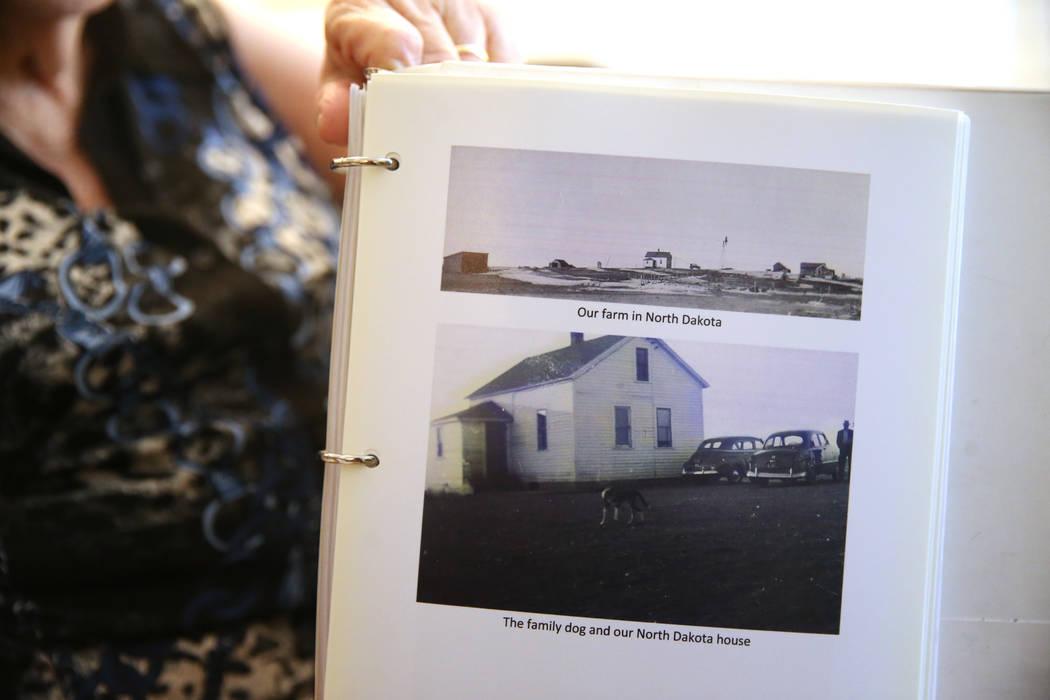 Photos of the family farm of Etta Baykara, 91, at her home in Las Vegas, Wednesday, Aug. 7, 201 ...