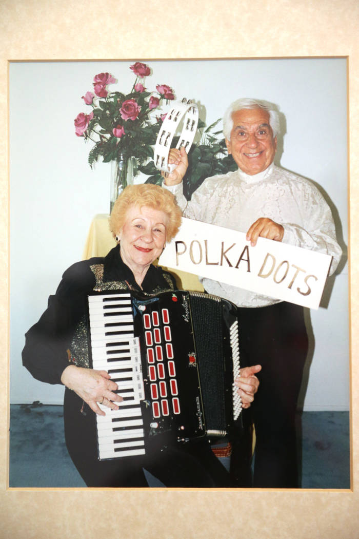 A photo from the book of Etta Baykara, 91, left, with her husband Joe, 93, shown at her home in ...